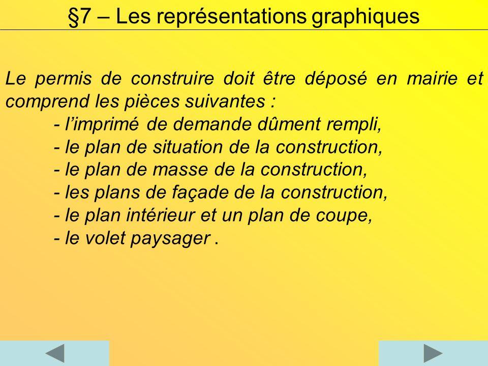 II) Le plan de situation ou cadastre Le plan de situation ou cadastre précise la position géographique de la construction dans son environnement proche.