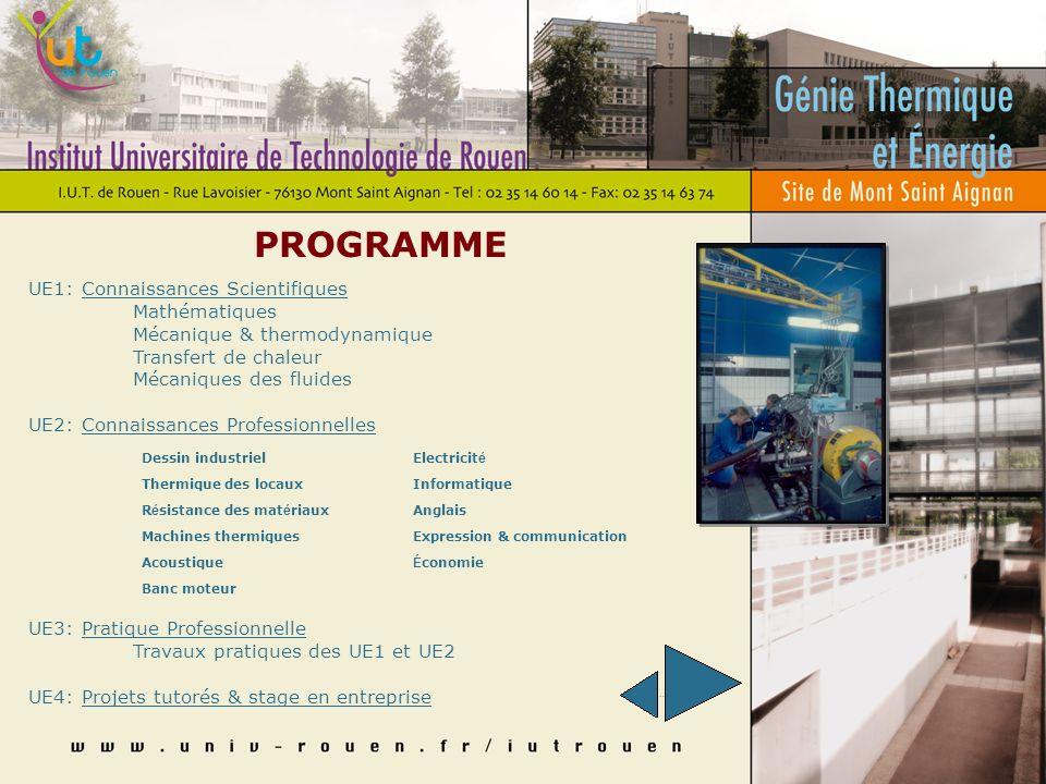 ORGANISATION DES ÉTUDES 4 semestres organisés en Unités dEnseignement (UE): 1 ère année: 34 semaines divisées en deux semestres 2 ème année: 36 semain