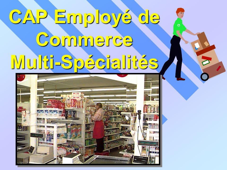 CAP Employé de Commerce Multi-Spécialités