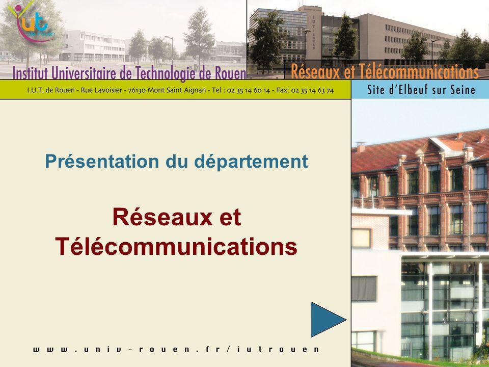 Présentation du département Réseaux et Télécommunications