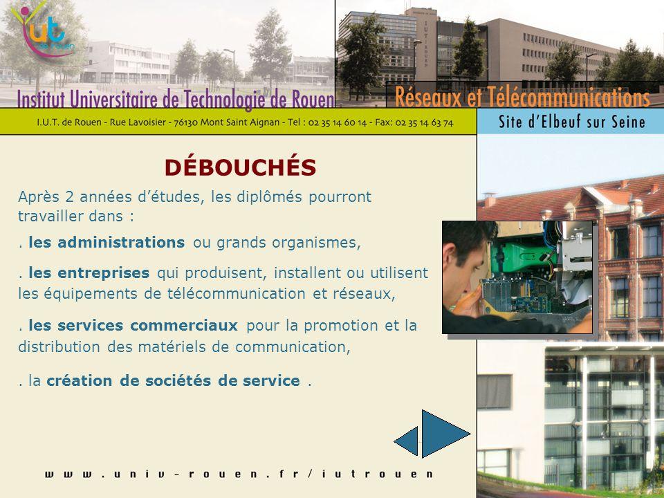 Infos Pratiques : 02 35 14 60 14 (scolarité) scolarite@univ-rouen.fr : 02 35 77 82 60 (Département) rt.iutrouen@univ-rouen.fr http://www.admission-postbac.fr/