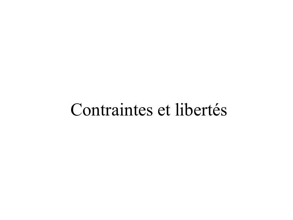 Contraintes et libertés