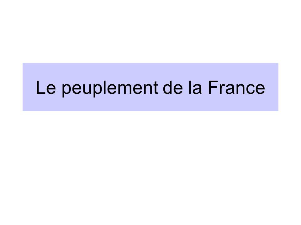 Le peuplement de la France