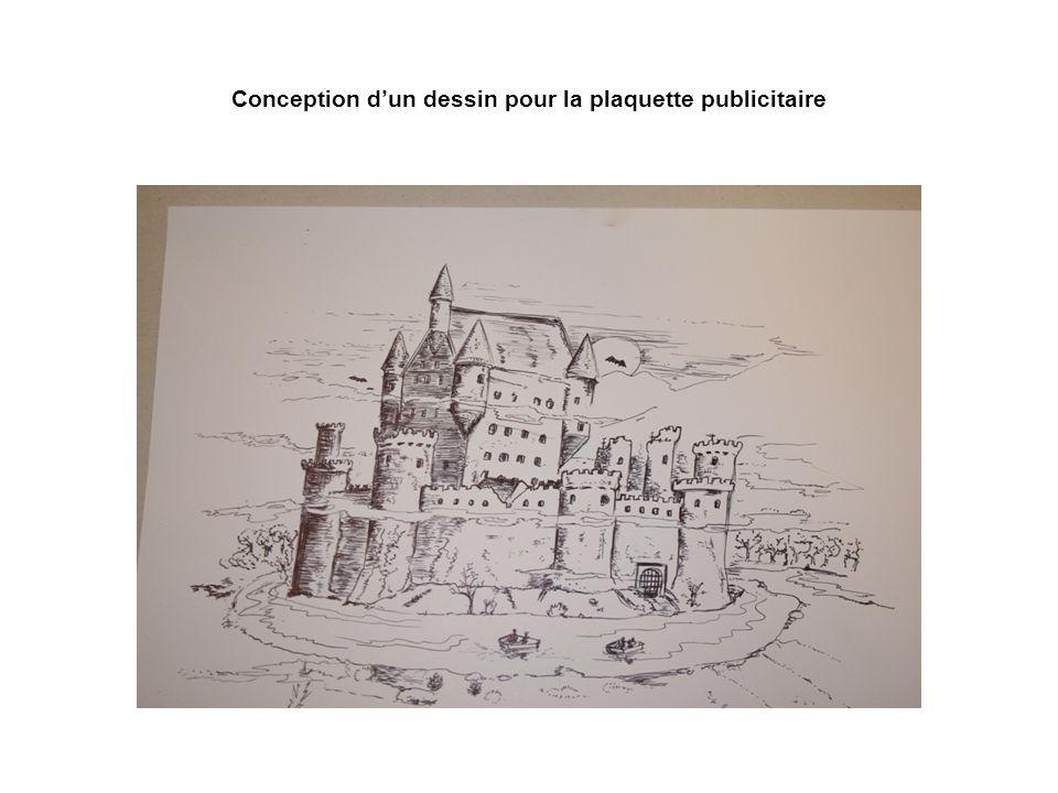Conception dun dessin pour la plaquette publicitaire