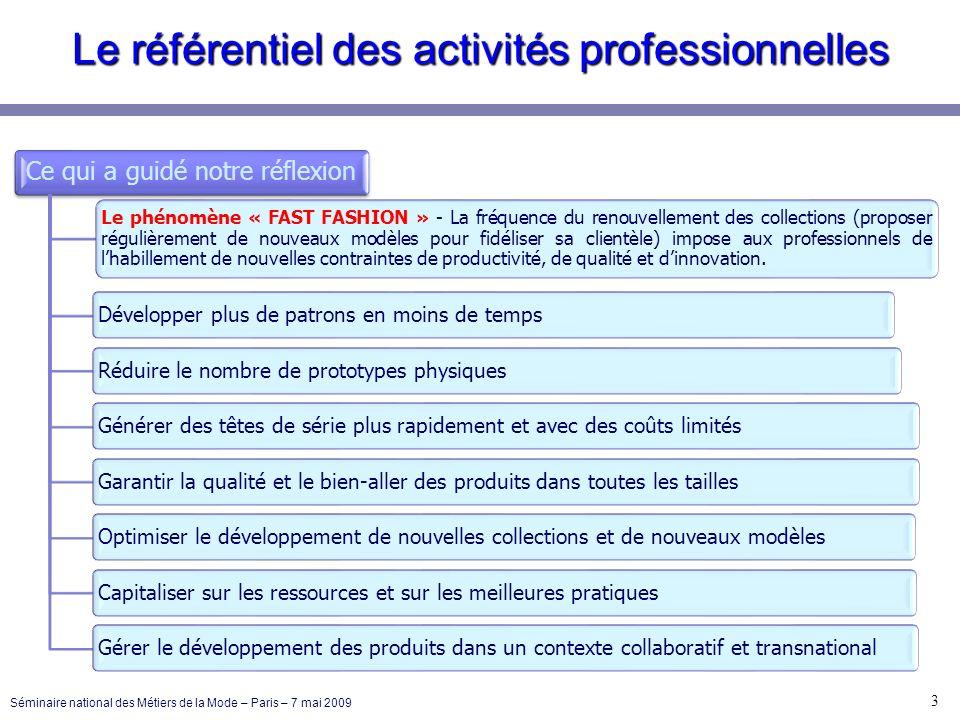 RF : 4 – Toutes fonctions 24 Séminaire national des Métiers de la Mode – Paris – 7 mai 2009 Communiquer pour restituer linformation 1 compétence terminale Communiquer techniquement