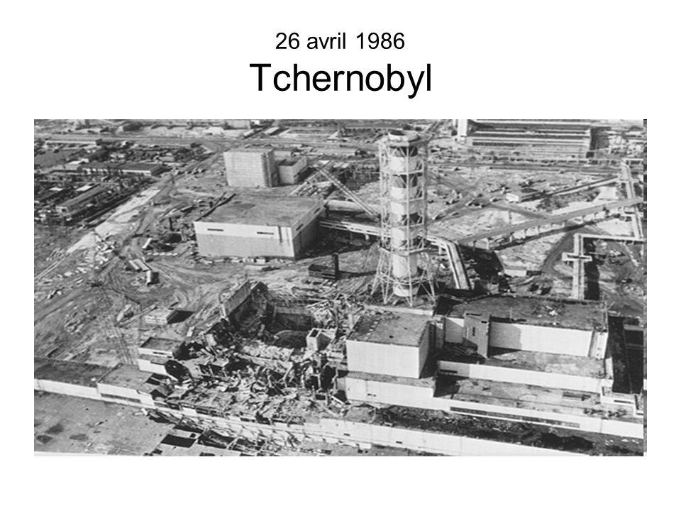 26 avril 1986 Tchernobyl