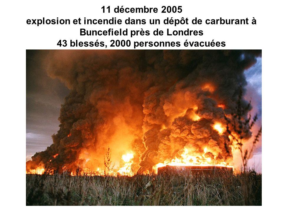 30 juillet 2004 : explosion d un gazoduc à Ghislenghien en Belgique, 24 morts, 132 blessés.