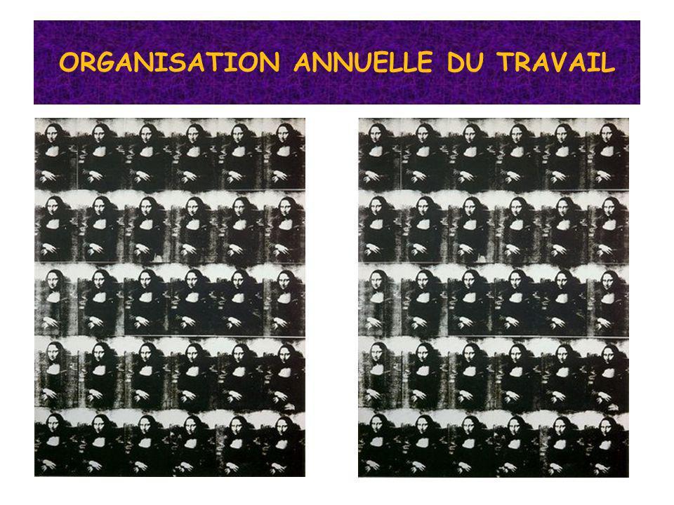 ORGANISATION ANNUELLE DU TRAVAIL