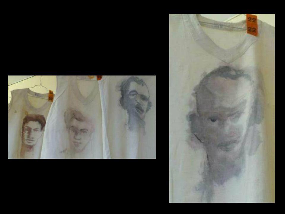 La mémoire se dilue : Portraits douvriers du passé : décalquer, peindre, diluer pour effacer