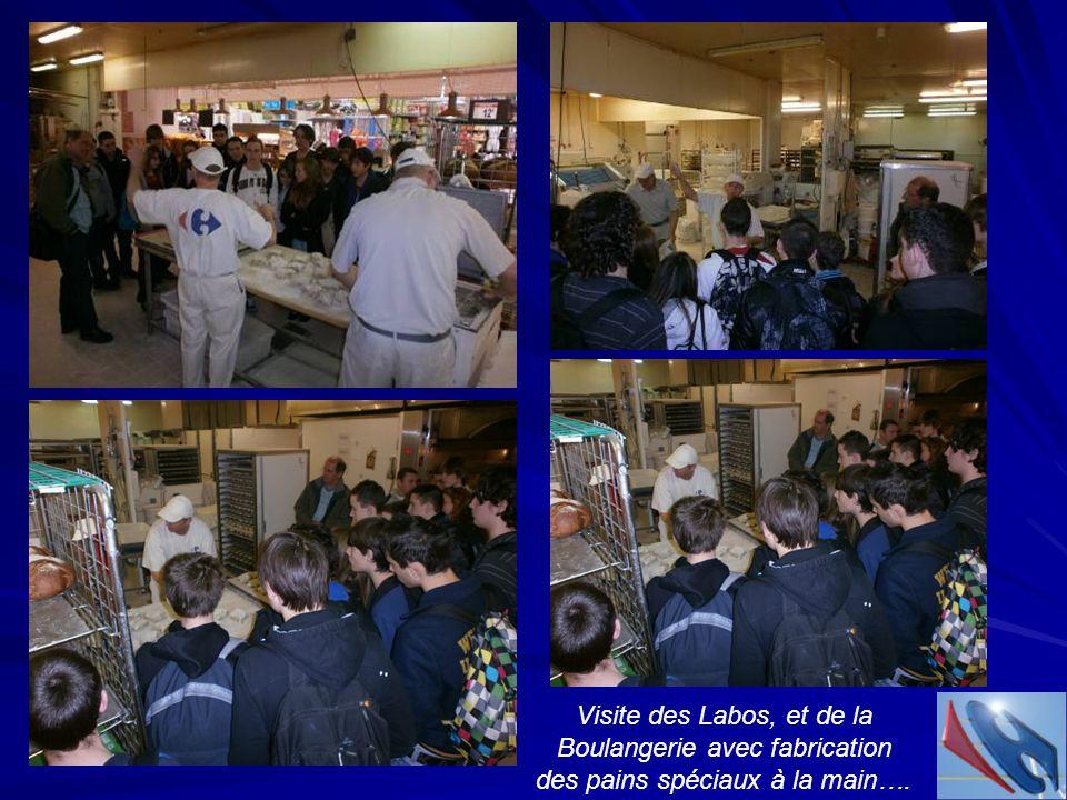 Visite des Labos, et de la Boulangerie avec fabrication des pains spéciaux à la main….