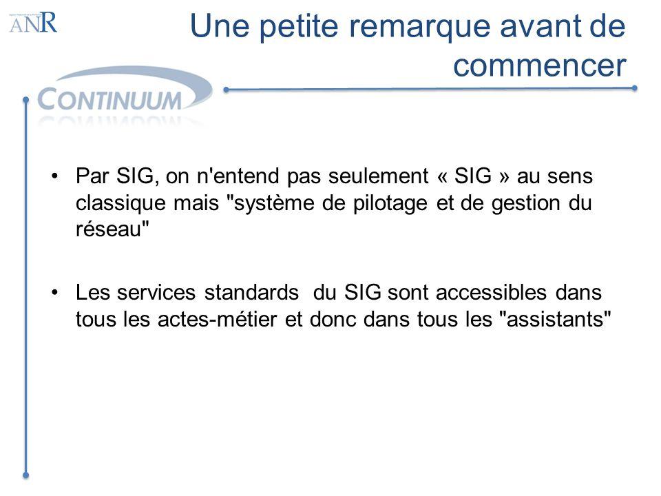 Une petite remarque avant de commencer Par SIG, on n'entend pas seulement « SIG » au sens classique mais