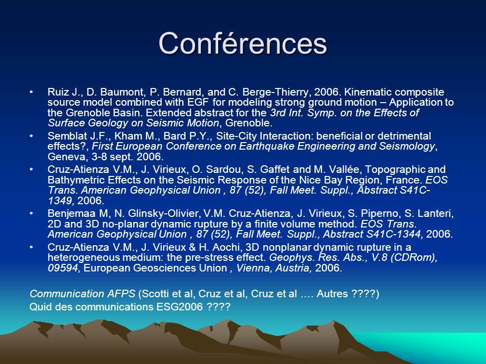 Conférences Ruiz J., D. Baumont, P. Bernard, and C.