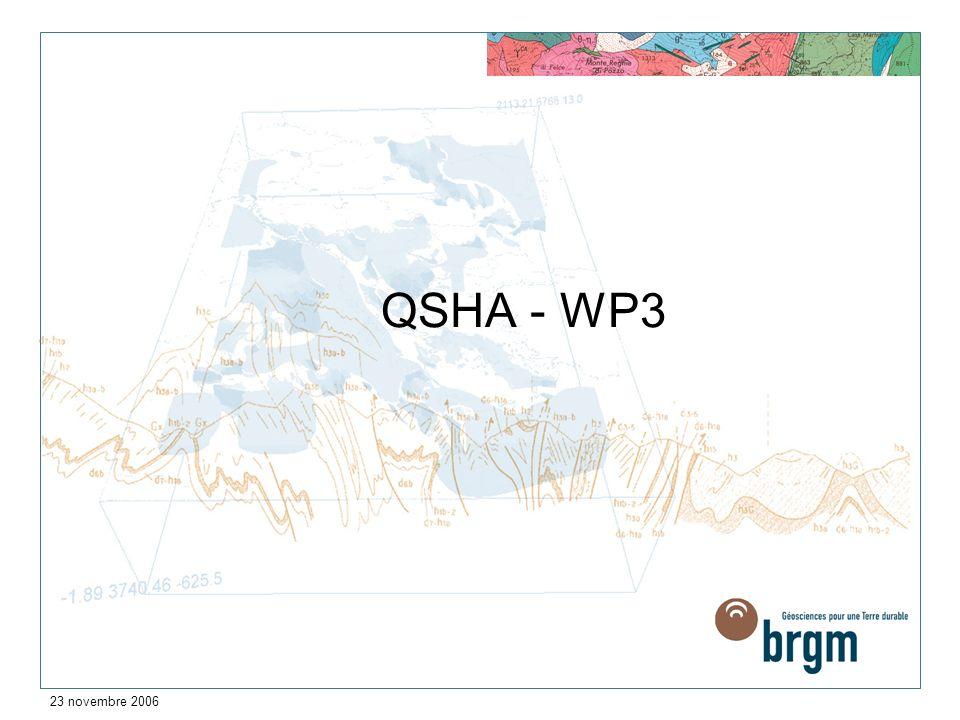 23 novembre 2006 QSHA - WP3