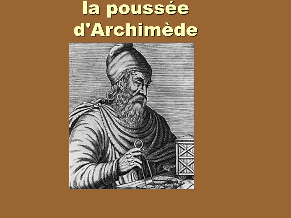 la poussée d'Archimède