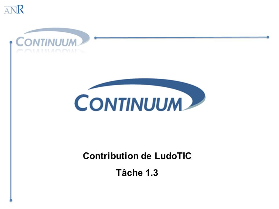 Contribution de LudoTIC Tâche 1.3