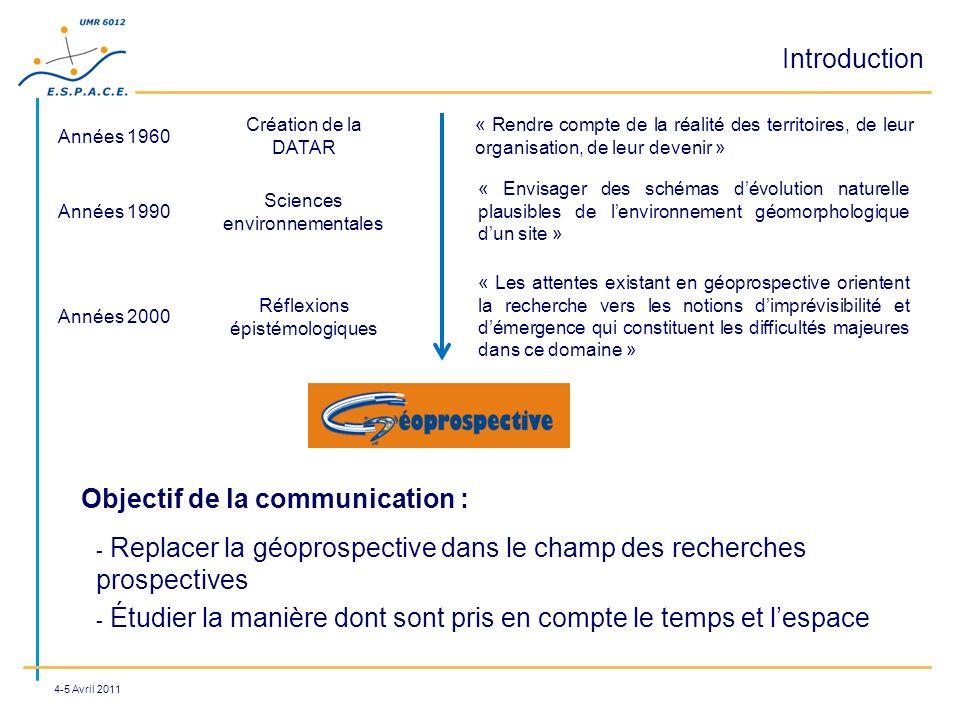 Introduction « Rendre compte de la réalité des territoires, de leur organisation, de leur devenir » Années 1960 Création de la DATAR Années 1990 « Env