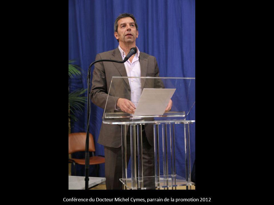 Conférence du Docteur Michel Cymes, parrain de la promotion 2012