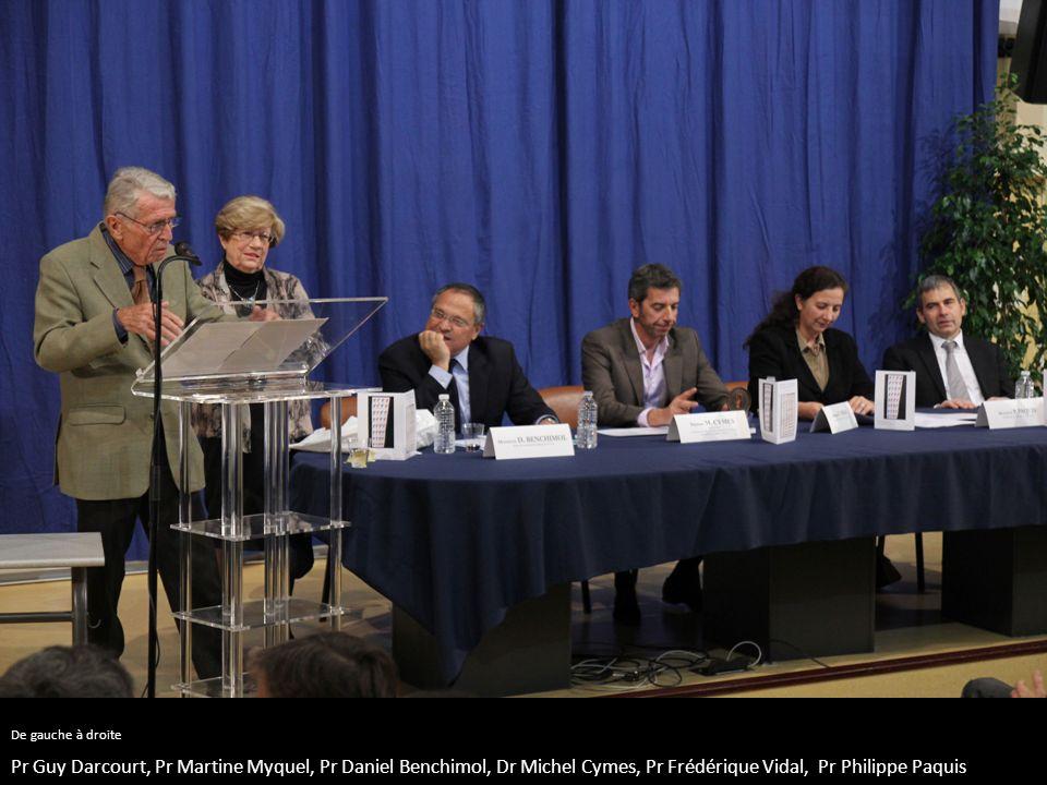 De gauche à droite Pr Guy Darcourt, Pr Martine Myquel, Pr Daniel Benchimol, Dr Michel Cymes, Pr Frédérique Vidal, Pr Philippe Paquis