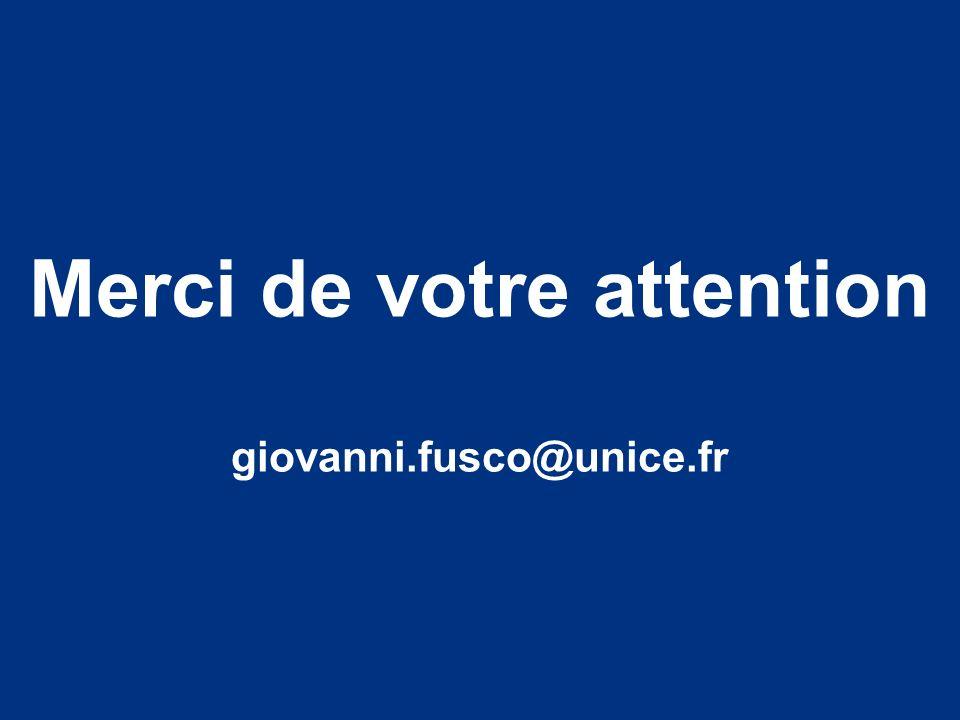 Démarche géoprospective et modélisation causale probabiliste Merci de votre attention giovanni.fusco@unice.fr