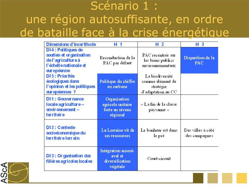 Scénario 1 : une région autosuffisante, en ordre de bataille face à la crise énergétique