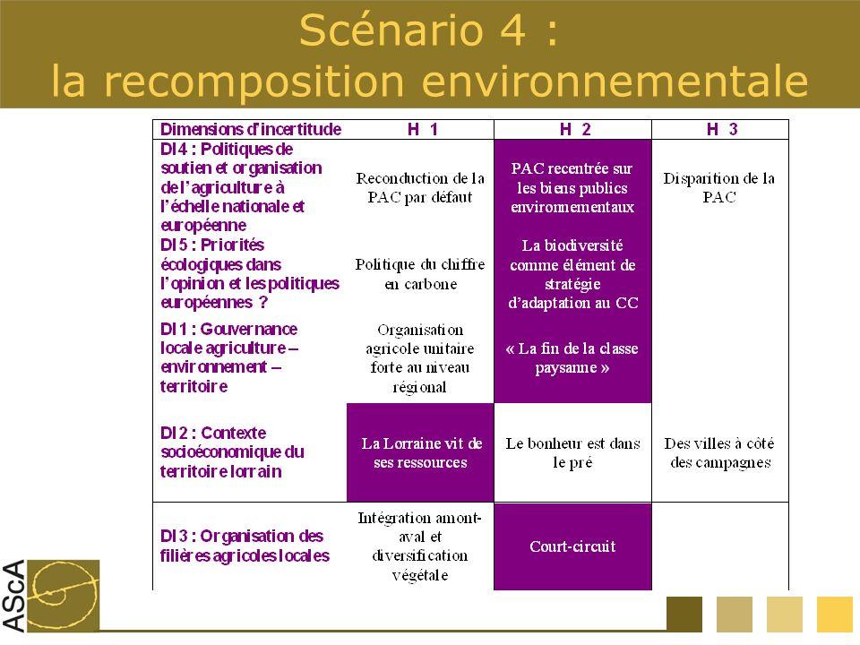 Scénario 4 : la recomposition environnementale