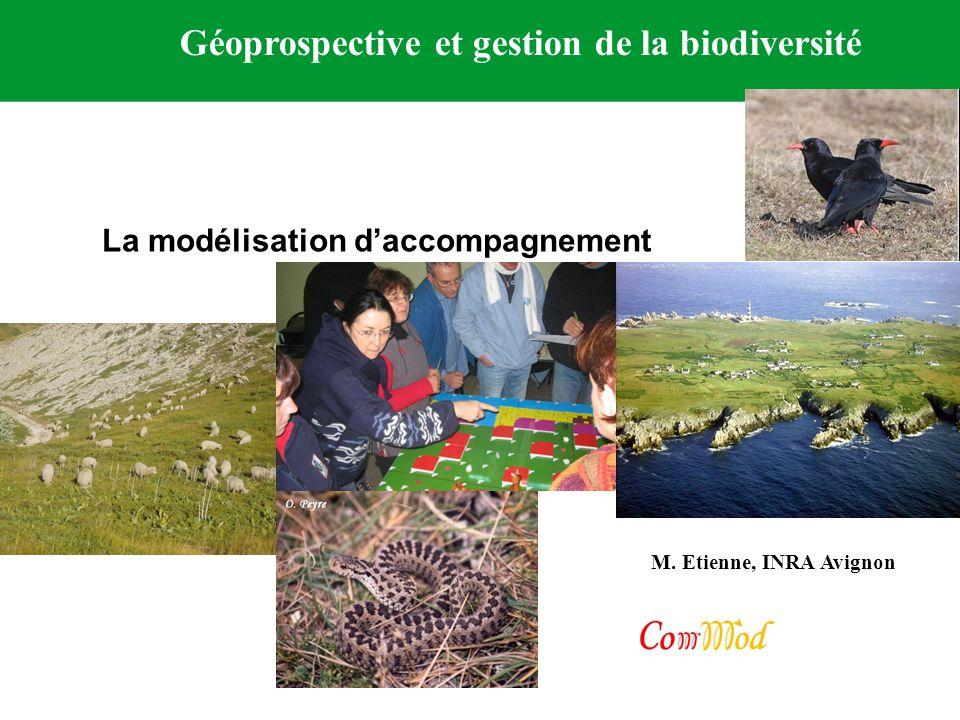 M. Etienne, INRA Avignon Géoprospective et gestion de la biodiversité La modélisation daccompagnement