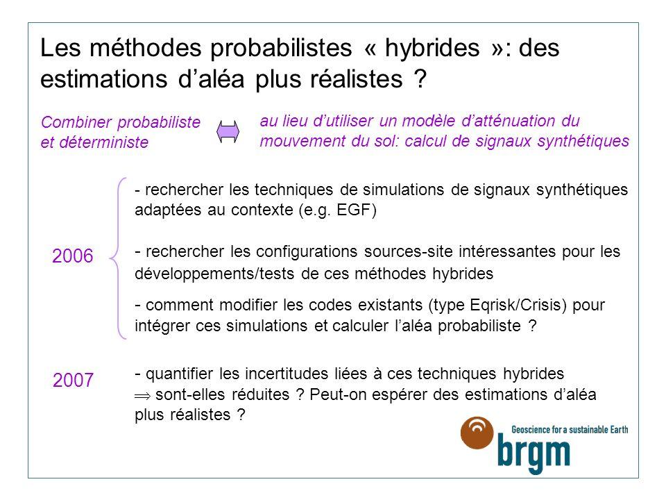 Les méthodes probabilistes « hybrides »: des estimations daléa plus réalistes .