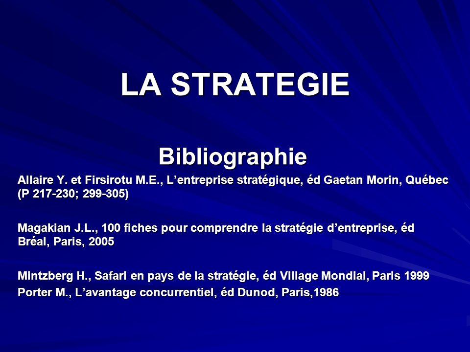 LA STRATEGIE Bibliographie Allaire Y.
