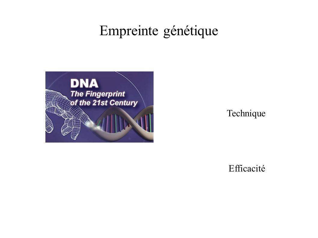 Empreinte génétique Technique Efficacité