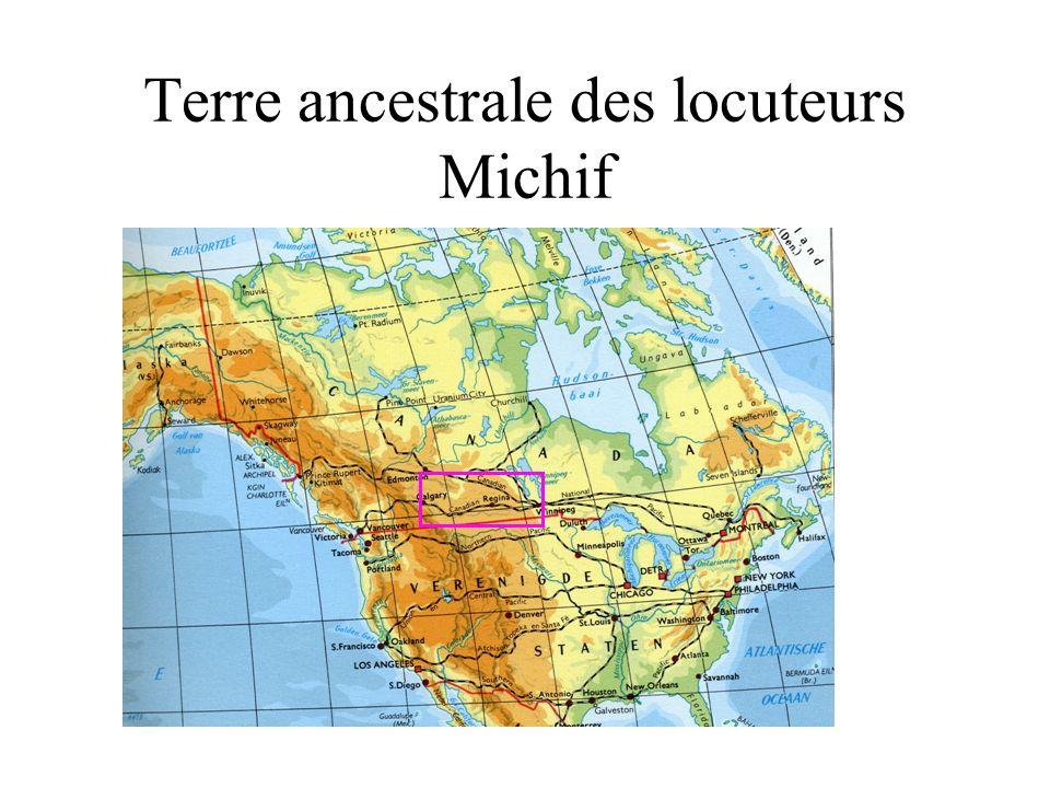 Terre ancestrale des locuteurs Michif