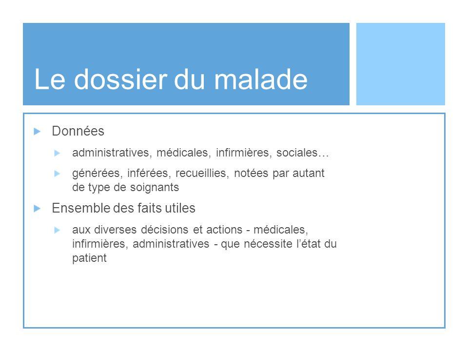 Informatiser le dossier… Analyse de linformation de sa « forme », de son cycle de vie...