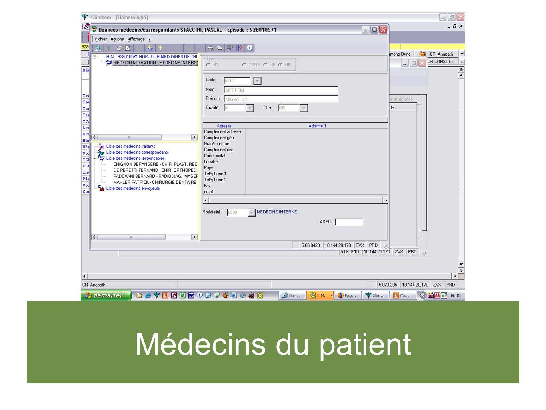 Médecins du patient