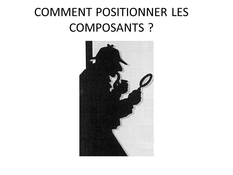 COMMENT POSITIONNER LES COMPOSANTS ? 35