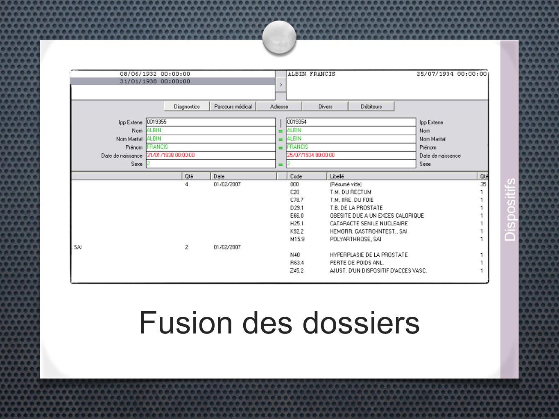 Fusion des dossiers Dispositifs