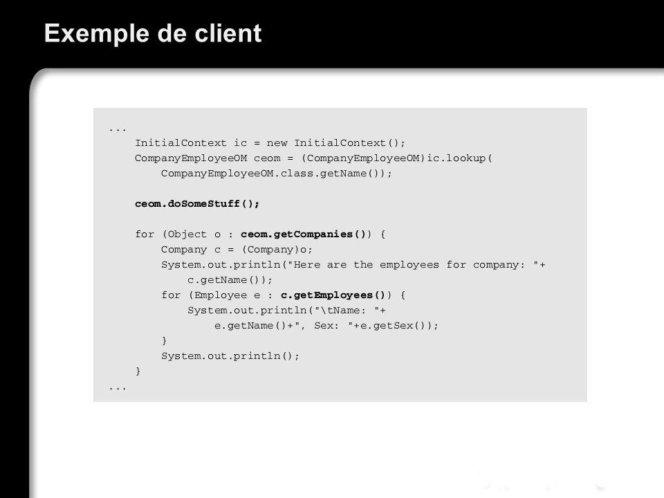 Exemple de client