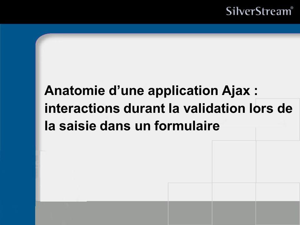 Anatomie dune application Ajax : interactions durant la validation lors de la saisie dans un formulaire