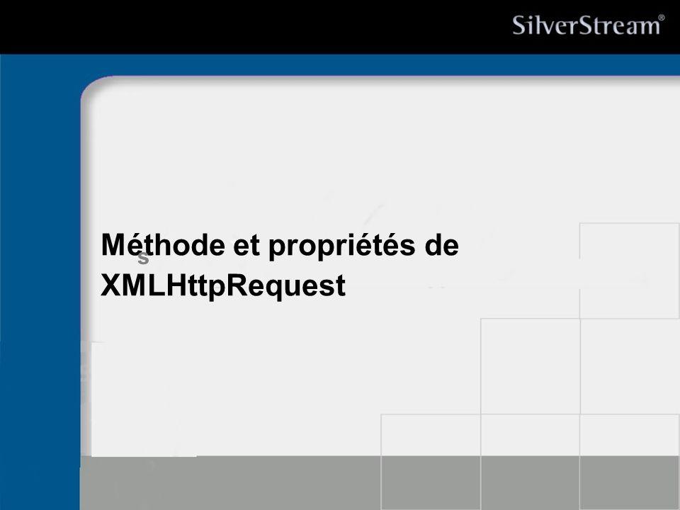 Méthode et propriétés de XMLHttpRequest s