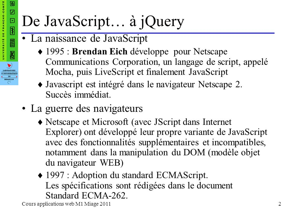 jQuery example dutilisation 7 Select All Select None Select All Select None $(span.none).click( function(){ $(this).siblings(:checkbox).removeAttr(checked); } ); $(span.all).click( function(){ $(this).siblings(:checkbox).attr(checked,checked); } ); $(span).click( function(){ if($(this).text()==Select All)) $(this).siblings(:checkbox).attr(checked,checked); else if ($(this).attr(class)==none) $(this).siblings(:checkbox).removeAttr(checked); } ); or