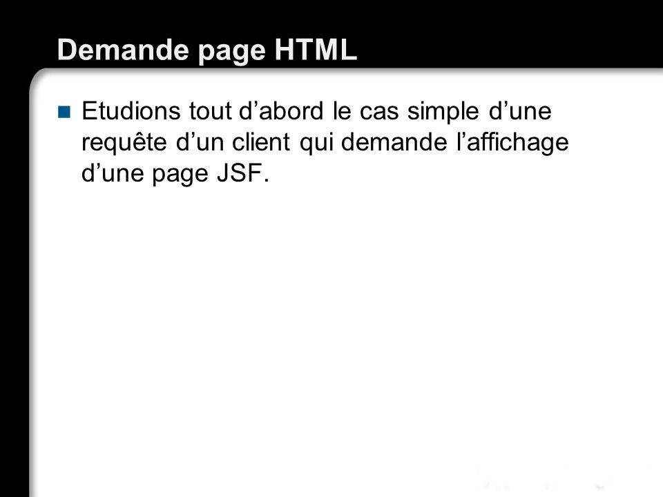 Demande page HTML Etudions tout dabord le cas simple dune requête dun client qui demande laffichage dune page JSF. 21/10/99Richard GrinJSF - page 32