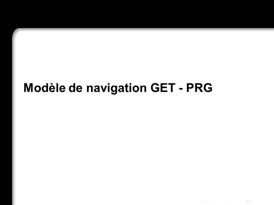 Modèle de navigation GET - PRG 21/10/99Richard GrinJSF - page 62