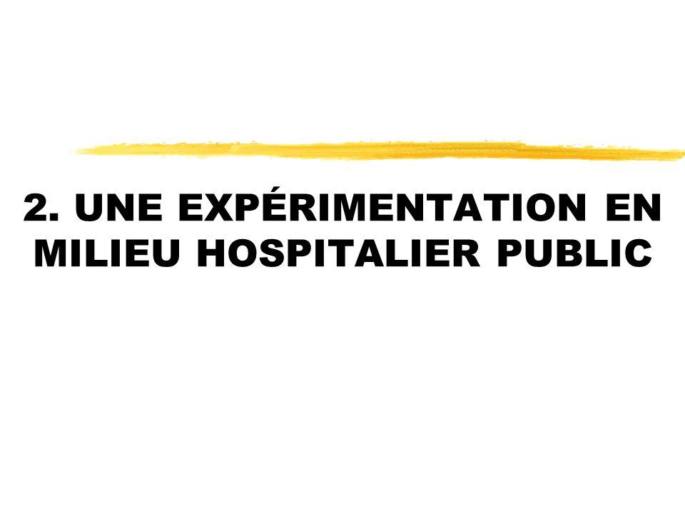 2. UNE EXPÉRIMENTATION EN MILIEU HOSPITALIER PUBLIC