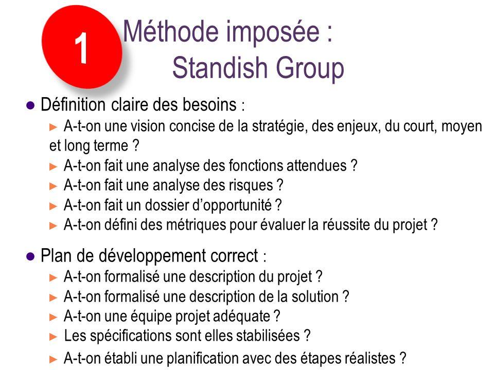 Définition claire des besoins : A-t-on une vision concise de la stratégie, des enjeux, du court, moyen et long terme ? A-t-on fait une analyse des fon