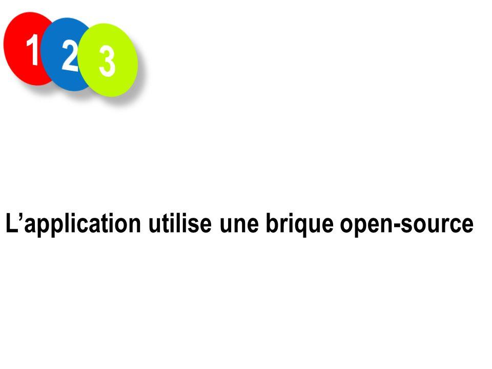 Lapplication utilise une brique open-source