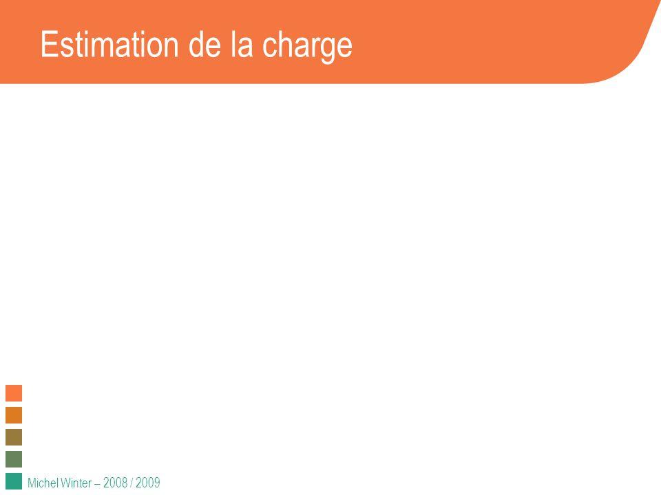 Michel Winter – 2008 / 2009 Estimation de la charge