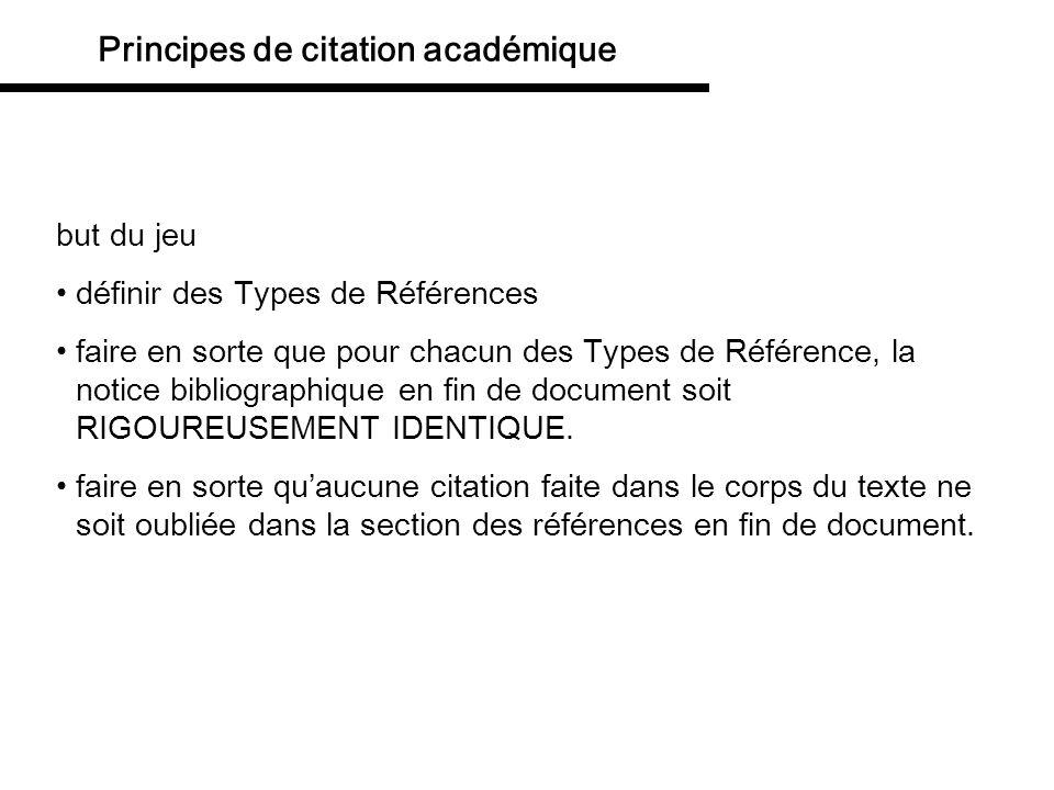 but du jeu définir des Types de Références faire en sorte que pour chacun des Types de Référence, la notice bibliographique en fin de document soit RI