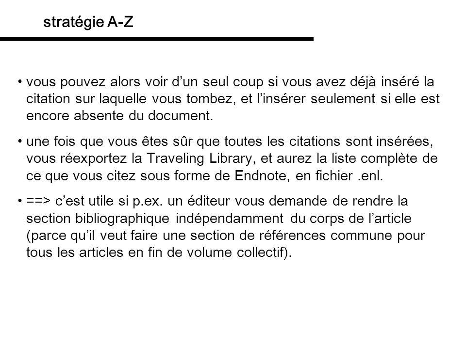 stratégie A-Z déambiguer (désambigation?) plusieurs références ont le même auteur et la même année: Chomsky, Noam 2000.