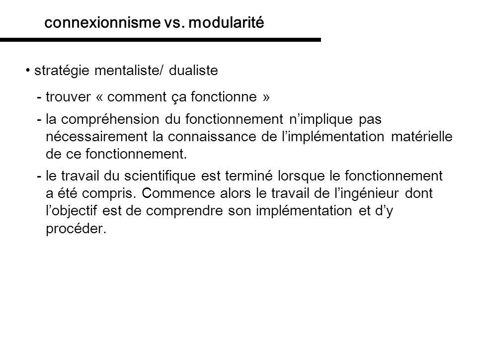 modularité vs. connexionnisme réconciliation: connexionisme avec des symboles Stevenson (1999)