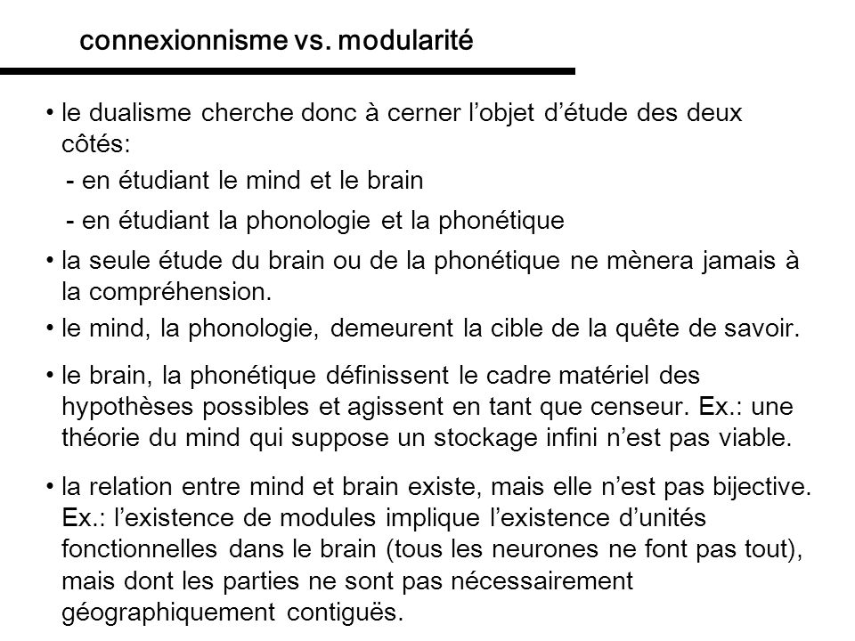 Théorie empiriste du fonctionnement cognitif: Le connexionisme