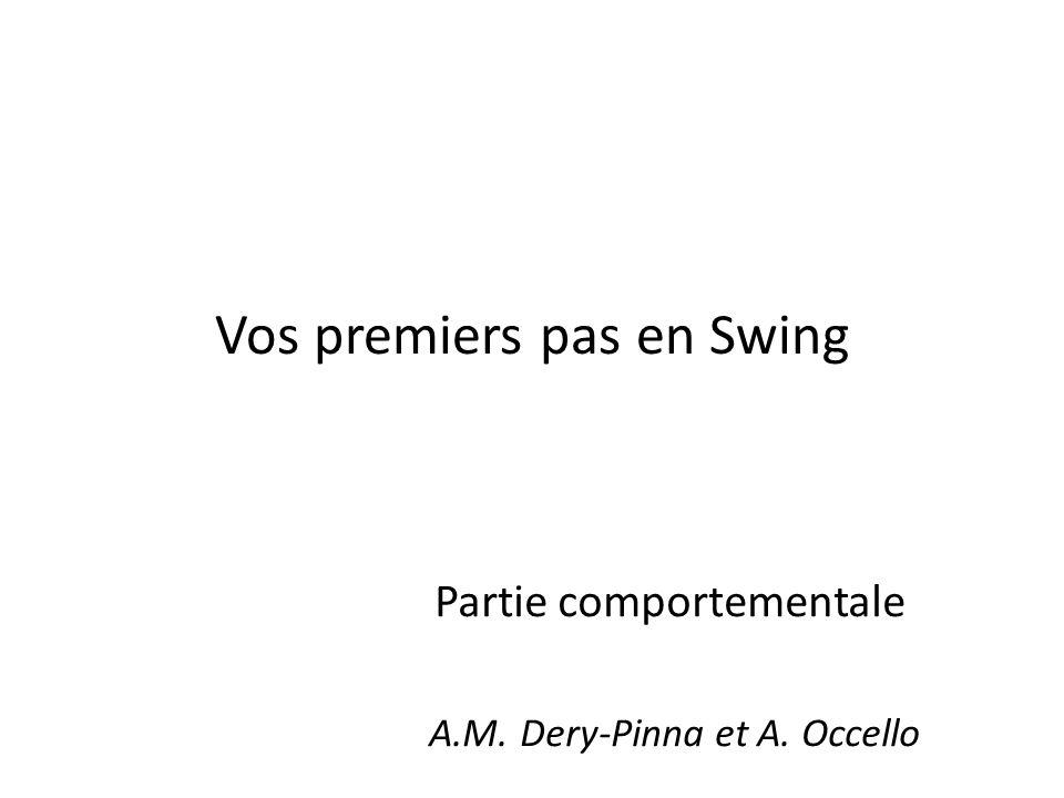 Vos premiers pas en Swing Partie comportementale A.M. Dery-Pinna et A. Occello