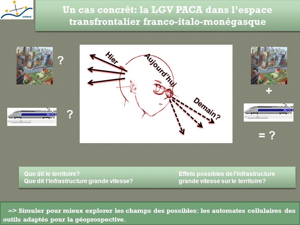 Un cas concrêt: la LGV PACA dans lespace transfrontalier franco-italo-monégasque Que dit le territoire? Que dit linfrastructure grande vitesse? ? ? Ef